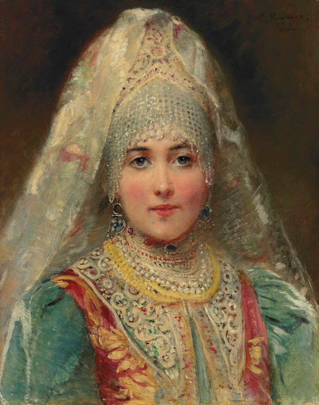 Konstantin Makovsky (1839-1915) - Boyarina